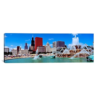 iCanvas Panoramic Summer Chicago, Illinois Photographic Print on Canvas; 24'' H x 72'' W x 1.5'' D
