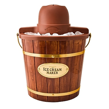 Nostalgia Electrics 4 Qt. Wooden Bucket Electric Ice Cream Maker