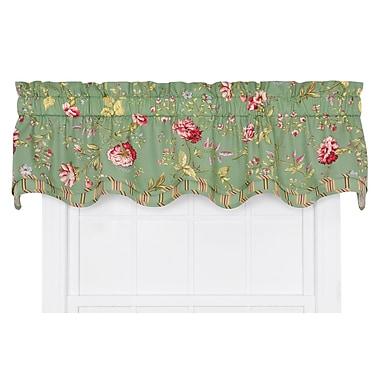 Ellis Curtain Coventry Medium Scale Floral Bradford Curtain Valance; Green