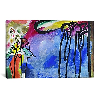 iCanvas Improvisation 19 by Wassily Kandinsky Painting Print on Canvas; 12'' H x 18'' W x 1.5'' D