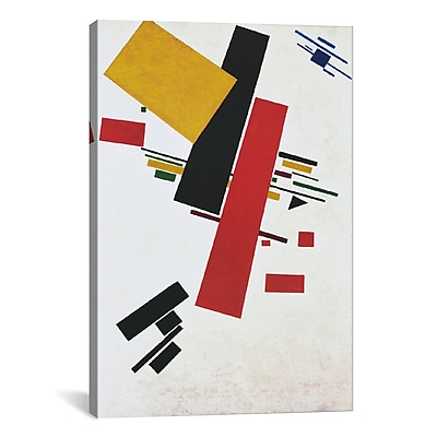 iCanvas 'Dynamic Suprematism' by Kazimir Malevich Graphic Art on Canvas; 26'' H x 18'' W x 1.5'' D