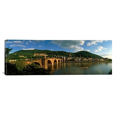 iCanvas Panoramic Bridge Heidelberg, Germany Photographic Print on Canvas; 20'' H x 60'' W x 1.5'' D