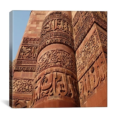 iCanvas Islamic Delhi's Tower of Victory Carvings Photographic Print on Canvas