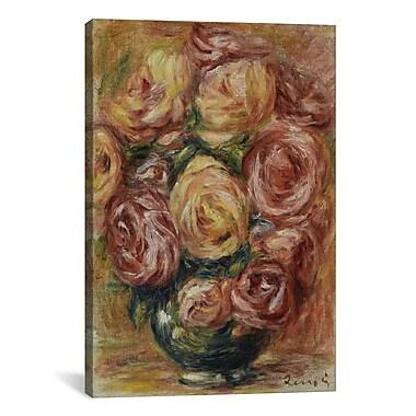 iCanvas ''Vase De Roses'' by Pierre-Auguste Renoir Canvas Painting Print; 40'' H x 26'' W x 1.5'' D