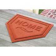 Bungalow Flooring Aqua Shield Home Plate Doormat; Orange