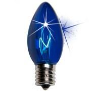 Kringle Traditions C9 Twinkle Transparent Bulb; Blue