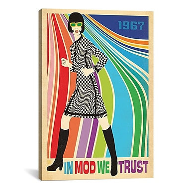 iCanvas 'In Mod We Trust' by Anderson Design Group Graphic Art on Canvas; 26'' H x 18'' W x 1.5'' D