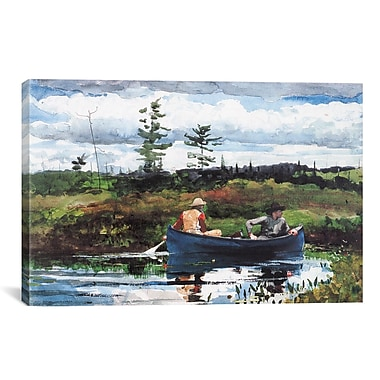 iCanvas 'The Blue Boat 1892' by Winslow Homer Painting Print on Canvas; 18'' H x 26'' W x 0.75'' D