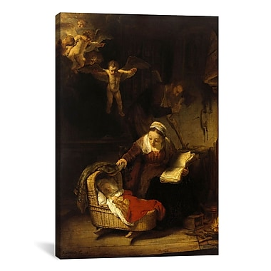 iCanvas 'The Holy Family w/ Angels' by Rembrandt Painting Print on Wrapped Canvas