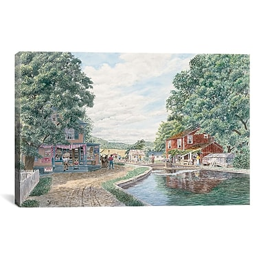 iCanvas ''Summertime: Morris Canal'' by Stanton Manolakas Painting Print on Wrapped Canvas