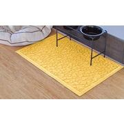 Bungalow Flooring Aqua Shield Scattered Dog Paws Doormat; Yellow