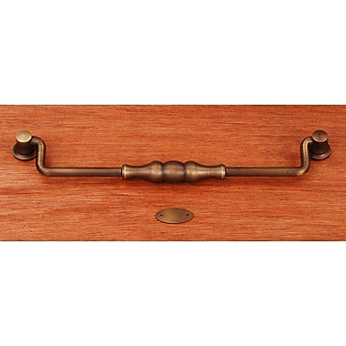 Rk International CP Series 8'' Center Drop Handle; Antique English