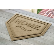 Bungalow Flooring Aqua Shield Home Plate Doormat; Camel