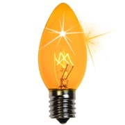 Kringle Traditions C9 Twinkle Transparent Bulb; Yellow