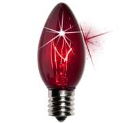 Kringle Traditions C9 Twinkle Transparent Bulb; Purple