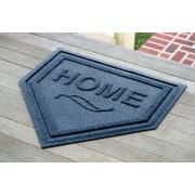 Bungalow Flooring Aqua Shield Home Plate Doormat; Navy