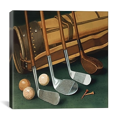 iCanvas ''Club Line Up (Golf)'' by William Vanderdasson Photographic Print on Canvas