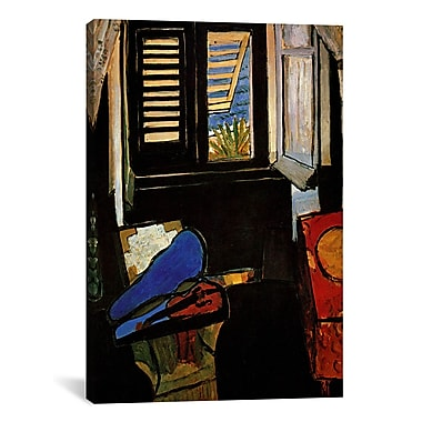 iCanvas 'Interior w/ a Violin' by Henri Matisse Painting Print on Canvas; 26'' H x 18'' W x 0.75'' D