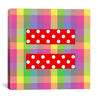 iCanvas Flags Equality Sign, Equal Rights Symbol Graphic Art on Canvas; 12'' H x 12'' W x 0.75'' D