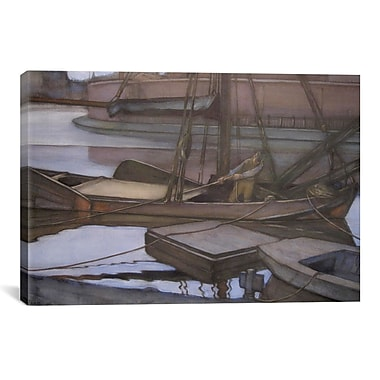 iCanvas 'Gone Fishing, 1900' by Piet Mondrian Painting Print on Canvas; 18'' H x 26'' W x 0.75'' D