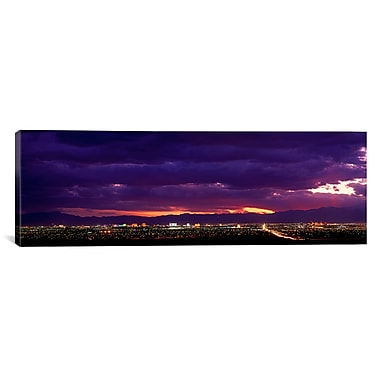 iCanvas Panoramic Storm, Las Vegas, Nevada Photographic Print on Wrapped Canvas