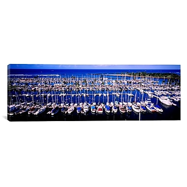 iCanvas Panoramic Ala Wai, Honolulu, Hawaii Photographic Print on Canvas; 12'' H x 36'' W x 0.75'' D