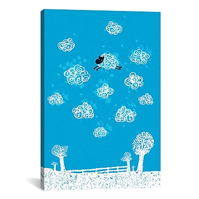 iCanvas 'Just Like a Cloud' by Budi Satria Kwan Painting Print on Canvas; 26'' H x 18'' W x 1.5'' D