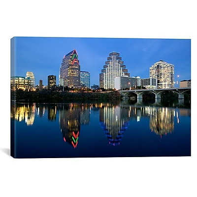 iCanvas Panoramic Town Lake, Austin, Texas Photographic Print on Canvas; 12'' H x 18'' W x 0.75'' D