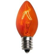 Kringle Traditions C7 Triple Dipped Transparent Bulb (Set of 25); Amber