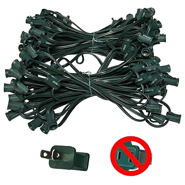 Wintergreen Lighting E12 Candelabra Light Stringer; Green