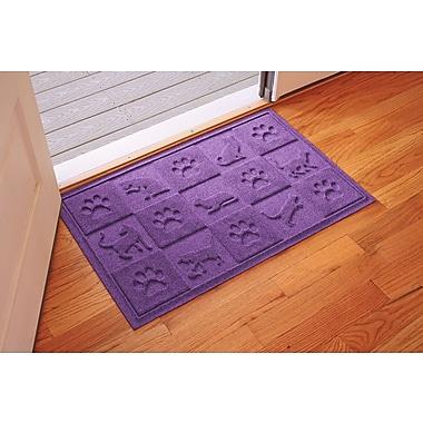 Bungalow Flooring Aqua Shield Cat in the Doormat; Purple