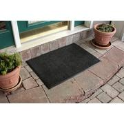 Bungalow Flooring Aqua Shield Dirt Stopper Supreme Doormat; Midnight Gray