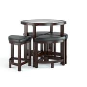 CorLiving - Table de salle à manger avec 4 tabourets Belgrove DBG-699-K au fini teint espresso foncé