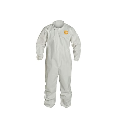 DUPONT Polypropylene Disposable Coverall Collar Elastic Wrists & Ankles, 3XL