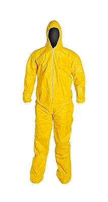 DUPONT Tyvek Chemical Protection Coveralls, XL