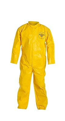 DUPONT Tychem Disposable Coveralls, XL