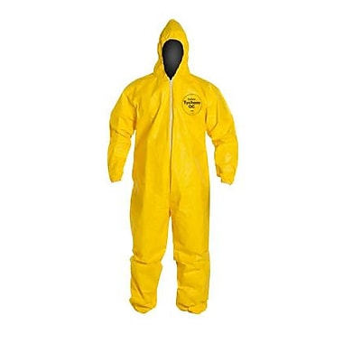 DUPONT Fabric Tychem QC Coverall, Medium