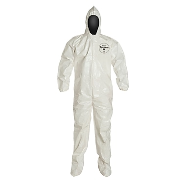 Dupont™ Tychem® SL122B Chemical Protective Coverall, White, 2X-Large