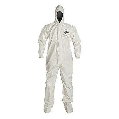 DUPONT Tyvek Chemical Resistant Coverall, Large