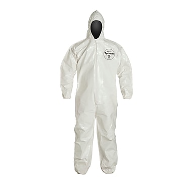 DUPONT Tychem Hooded Tychem Disposable Coverall, XL