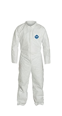 DUPONT Tyvek Open Wrists & Ankles Coveralls, Large