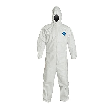 DUPONT Tyvek Disposable Coverall with Hood, 5XL