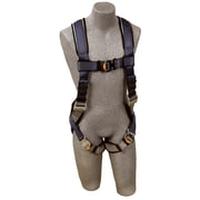Exofit™ D-Ring Back Blue/Navy Polyester Stretchable Harness, Medium, 420 lb