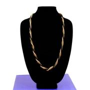 Best Desu – Collier métallique tressé fabriqué à la main 3-en-1 de la gamme Alley Style Designer