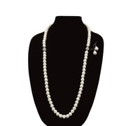 Best Desu 2 Crystal Pearl Glass Necklaces and 1 Pair Of Earrings