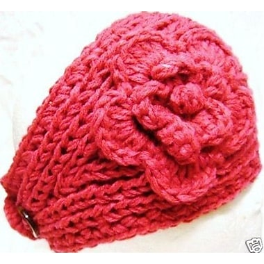 Best Desu Handmade Knit Crochet Headband, Pink