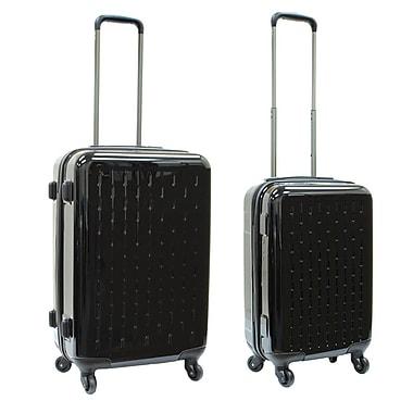 Samboro 2-Piece Celebrity Spinner Luggage Set, Black