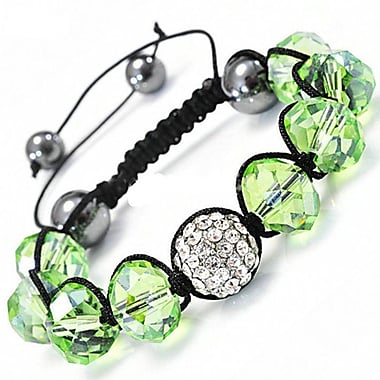 Best Desu – Bracelet de cristal de style Shambala, vert émeraude