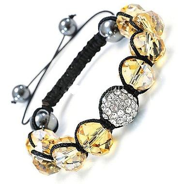 Best Desu – Bracelet de cristal de style Shambala, topaze clair