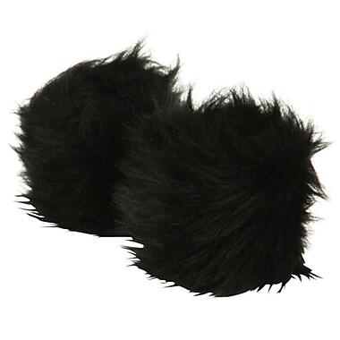 Best Desu Faux Fur Wristwarmers, Black